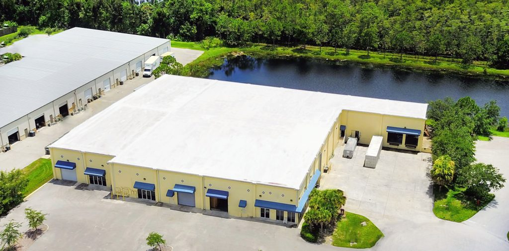 Florida's Decorators and Warehousing Delivery Storage aerial view